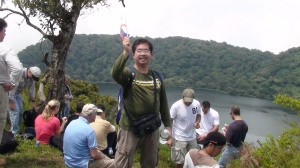 1st Pinoy to reach the crater of Mt. Baisile in Equatorial Guinea called Caldera Lake