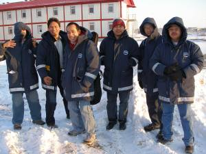 with Pinoy Friends enjoying Kazakhstan's snow